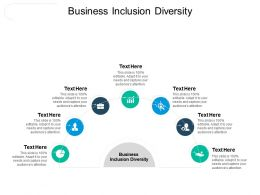 Business Inclusion Diversity Ppt Powerpoint Presentation Slides Layout Ideas Cpb