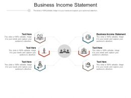 Business Income Statement Ppt Powerpoint Presentation Slides Summary Cpb