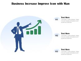 Business Increase Improve Icon With Man