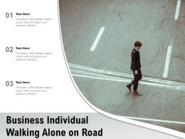 Business Individual Walking Alone On Road