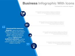 Business Infographics With Icons For Business Deal Powerpoint Slides