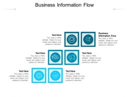 Business Information Flow Ppt Powerpoint Presentation Summary Diagrams Cpb