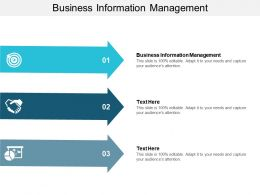 Business Information Management Ppt Powerpoint Presentation Layouts Graphics Pictures Cpb