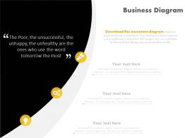 Business Information Quote And Icons Powerpoint Slides