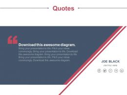 Business Information Quotes With Social Media Icons Powerpoint Slides