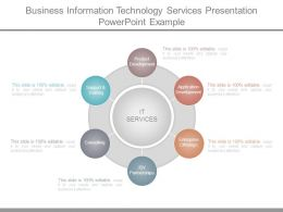Business Information Technology Services Presentation Powerpoint Example