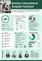 Business Informational Template Factsheet Presentation Report Infographic PPT PDF Document