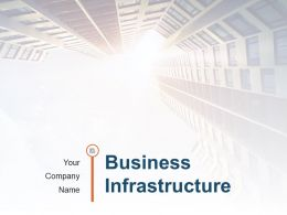 Business Infrastructure With Database Icon Human Resource Operational Tool Powerpoint Presentation Slides
