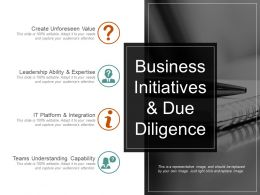 Business Initiatives And Due Diligence Powerpoint Presentation