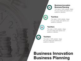 Business Innovation Business Planning Ppt Powerpoint Presentation Slides Show Cpb