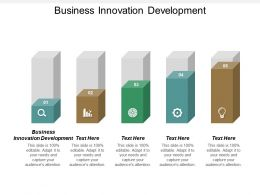 Business Innovation Development Ppt Powerpoint Presentation Gallery Clipart Cpb