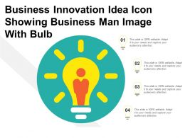 Business Innovation Idea Icon Showing Business Man Image With Bulb