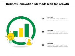 Business Innovation Methods Icon For Growth