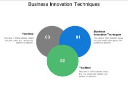 Business Innovation Techniques Ppt Powerpoint Presentation Layouts Picture Cpb