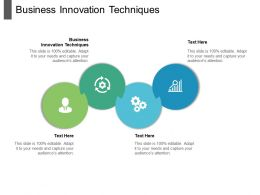 Business Innovation Techniques Ppt Powerpoint Presentation Outline Deck Cpb