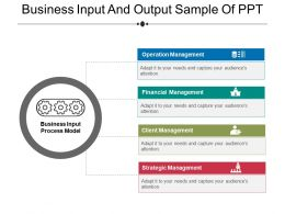 Business Input And Output Sample Of Ppt