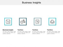 Business Insights Ppt Powerpoint Presentation Slides Good Cpb