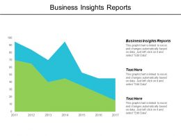 Business Insights Reports Ppt Powerpoint Presentation Gallery Examples Cpb