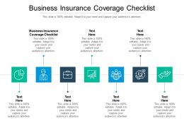 Business Insurance Coverage Checklist Ppt Powerpoint Presentation Professional Layouts Cpb