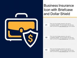 Business Insurance Icon With Briefcase And Dollar Shield
