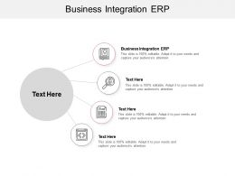 Business Integration ERP Ppt Powerpoint Presentation Professional Deck Cpb