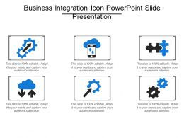 Business Integration Icon Powerpoint Slide Presentation