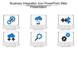 Business Integration Icon Powerpoint Slide Presentation