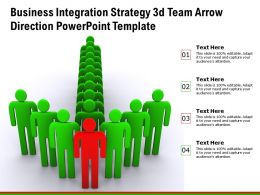 Business Integration Strategy 3d Team Arrow Direction Powerpoint Template
