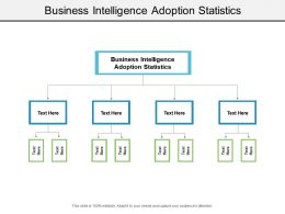 Business Intelligence Adoption Statistics Ppt Powerpoint Presentation Show Picture Cpb