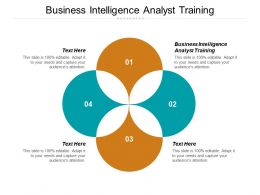 Business Intelligence Analyst Training Ppt Powerpoint Presentation Gallery Outline Cpb