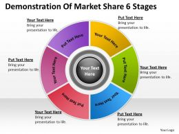Business Intelligence Architecture Diagram Of Market Share 6 Stages Powerpoint Templates