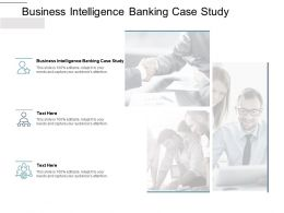 Business Intelligence Banking Case Study Ppt Powerpoint Presentation Model Cpb