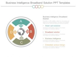 Business Intelligence Broadband Solution Ppt Templates