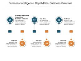 Business Intelligence Capabilities Business Solutions Ppt Powerpoint Presentation Deck Cpb