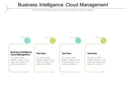 Business Intelligence Cloud Management Ppt Powerpoint Presentation File Cpb