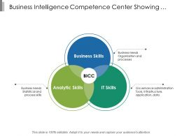 Business Intelligence Competence Center Showing Analytic Business And It Skills