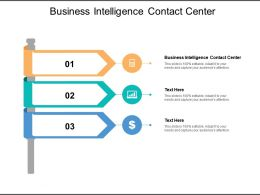 Business Intelligence Contact Center Ppt Powerpoint Presentation Styles Layout Cpb