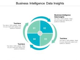 Business Intelligence Data Insights Ppt Powerpoint Presentation Professional Images Cpb