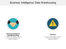 Business Intelligence Data Warehousing Ppt Powerpoint Presentation Pictures Maker Cpb