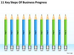 Business Intelligence Diagram 11 Key Steps Of Progress Powerpoint Templates