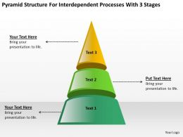 Business Intelligence Diagram For Interdependent Processes With 3 Stages Powerpoint Templates