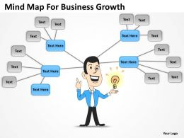 Business Intelligence Diagram Mind Map For Growth Powerpoint Templates 0515