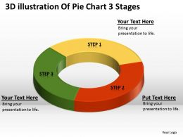 Business Intelligence Diagram Of Pie Chart 3 Stages Powerpoint Templates PPT Backgrounds For Slides