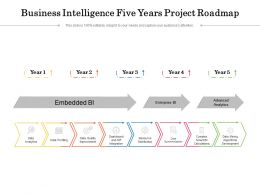 Business Intelligence Five Years Project Roadmap
