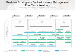 Business Intelligence For Performance Management Five Years Roadmap