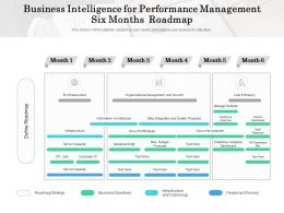 Business Intelligence For Performance Management Six Months Roadmap