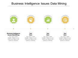Business Intelligence Issues Data Mining Ppt Powerpoint Presentation Outline Model Cpb