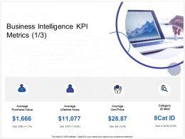 Business Intelligence KPI Metrics Average Ppt Powerpoint Inspiration Microsoft