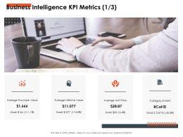 Business Intelligence KPI Metrics Average Ppt Powerpoint Presentation Slide Download