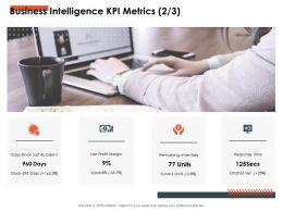 Business Intelligence KPI Metrics Goal Ppt Powerpoint Presentation Professional Slides